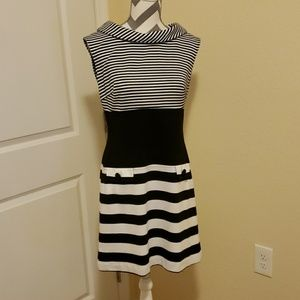 Taylor Size 8 Black and White Dress